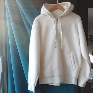 Rag & Bone Teddy Hoodie in Chalk